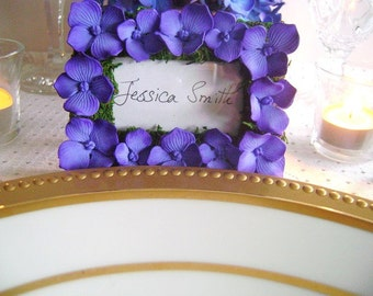 Escort Card Holder Purple Wedding Place Card Frame Bridal Shower Favors Wedding Favours Made to Order Set of 10