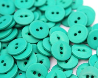 Buttons - Supplies - Teal Vintage Button Lot, 50 Teal Buttons, craft buttons
