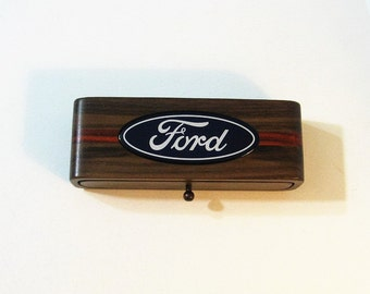 Ford Automobile Treasure Box With Emblem