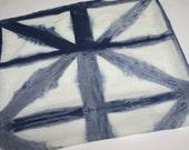 Sale - Linen hand dyed in indigo