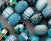 DSG-Debbie Sanders Glass Handmade Lampwork Beads (Made To Order) Winter Aqua