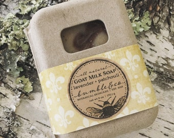 Goat Milk Soap | Bar Soap | Patchouli and Lavender Soap | Gift Idea Under 10 | Homemade Soap | Oatmeal Soap | Artisan Soap | Gentle Soap