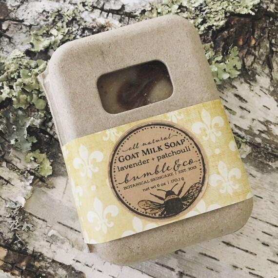 Goat Milk Soap   Bar Soap   Patchouli and Lavender Soap   Gift Idea Under 10   Homemade Soap   Oatmeal Soap   Artisan Soap   Gentle Soap