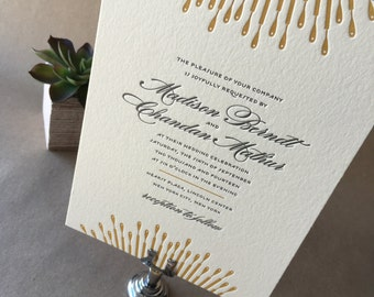 Letterpress Wedding Invitations, Sample