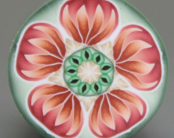 HALF PRICE SALE Polymer Clay Flower Cane -'Terrapin Station' series (39ee)