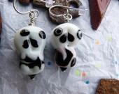 Lampwork Sugar Skull Earrings