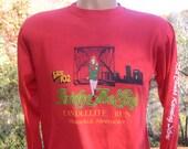 vintage 80s tee LOUISVILLE running bridge the gap road race long sleeve t-shirt Medium soft thin
