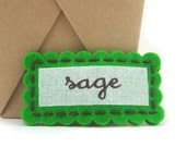 Personalized  Hair Clip, Personalized  Barrette, Girls Felt Name Clip, Monogram Clip, GRASS GREEN