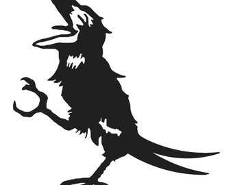 Grateful Dead Sticker Wake of the Flood Crow Vinyl Decal for Wall or Vehicles Graphics