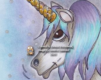 469 Head Unicorn Digi Stamp