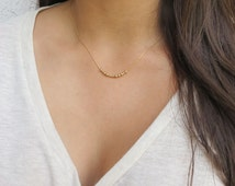 Morse Code Necklace Hidden Message  Morse Code Love Jewelry  Bridesmaids Necklace Gold Filled Necklace