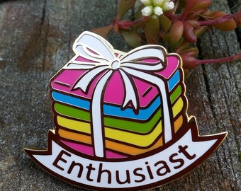 Enthusiast Pin, hard enamel pin, crafty enamel pin, lapel pin enamel pin set, artist enamel pin, cute enamel pin, sewing enamel pin,