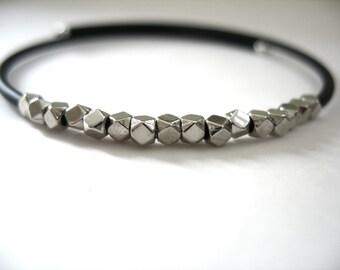 Cuff Bracelet, Silver Beaded Bracelet, Handmade Jewelry, Artisan Jewelry, Silver Bracelet