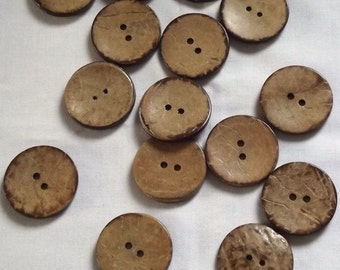 Natural Coconut Buttons, 31mm x 2