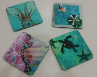 My  Original Paintings as Art Coasters