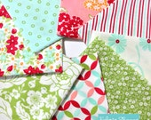 Hello Darling fabric, Christmas fabric, Shabby Chic fabric, Cotton fabric, Bonnie and Camille for Moda- Fabric bundle of 8- Choose the cuts