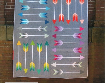 Arrow Quilt, Modern Quilt, Pointy Quilt Pattern by Elizabeth Hartman, Arrow Quilt, Bow and Arrow, Fabric Shoppe Free Shipping Available