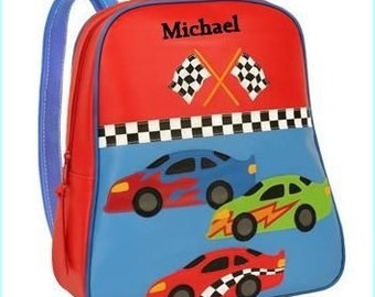 Toddler backpack - monogram backpack - personalized toddler backpack - backpack diaper bag - School supplies - monogram bag - racecar bag