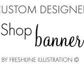 Shop Banner, Custom Designed Shop Banner, Store Banner, Graphic Designer, Graphic Design, Store Graphics