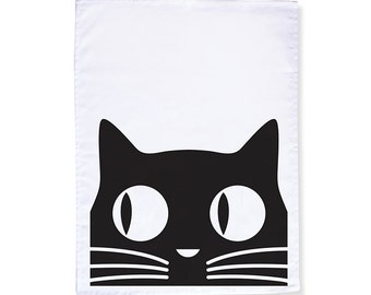 Big Eyes Cat Tea Towel/Dish Towel (as seen in Rachel Ray!)