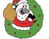 Christmas Season Holiday Greeting Card - Santa Baas - Blank Stationary - Funny Cute Sheep Greeting Card - A2 Card