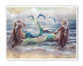Mermaids and dolphins,  Prints