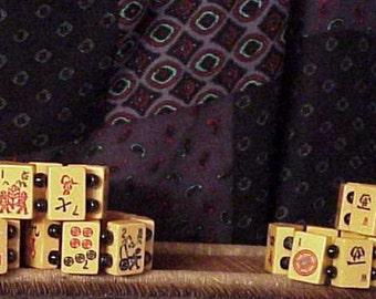 lot of six vintage amber bakelite mah jong bracelets signed Jan Carlin red pony