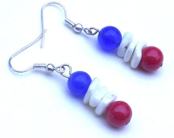 Patriotic,  Independence Day,  4th of July Earrings
