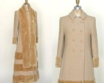 30% OFF Vintage Maxi Coat --- 1970s Camel Coat