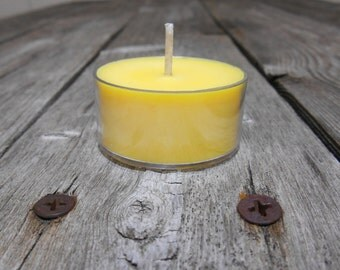 Butterscotch Scented Soy Tealights Rustic Yellow