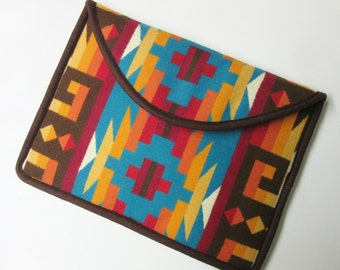 "13"" Macbook Pro Laptop Cover Sleeve Case Blanket Wool Colorful Southwest Print Wool Rio Rancho"
