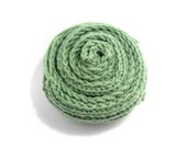Long Scarf Hand Knitted in Moss Green Soft Wool