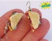 Christmas in July - BLT Earrings, Food Jewelry, Miniature Sandwich Earrings, Bacon Lettuce Tomato earrings