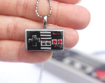 Nintendo Controller - Necklace - gamer girl jewelry - nintendo necklace - gamer necklace - NES controller - Video game jewelry - nes jewelry
