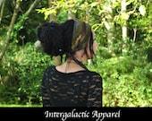 Sacred Geometry Headband, Neutral Colors, Festival Clothing, Dreadband, Dread Wrap, Dreadlocks, Intergalactic Apparel
