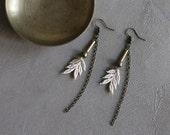 ivory lace earrings || RASA || lace earrings, dangle earrings, long earrings,  festival,  boho bride, unique jewelry, girlfriend gift