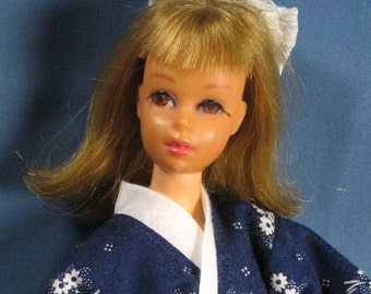 Francie Clothes - Navy Blue Kimono Set