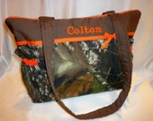 Mossy oak new breakup SALE 16% off hunters small duffle purse tote handbag diaper bag add a name pick ribbon colors baby shower gift