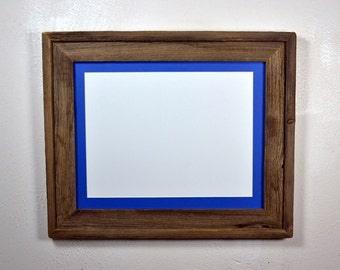 11x14 reclaimed wood picture frame with mat for 8x10 or 8x12 or 9x12