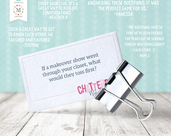 INSTANT DOWNLOAD - ChatterBox Conversation Game - Women's Edition. Printable Set