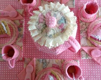 Tea Party Set for Four - Precious Pink