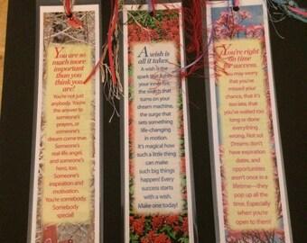 3 - Inspirational Laminated Bookmarks