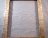 11x14 Quartersawn Curly Rock Maple Picture Frame AC
