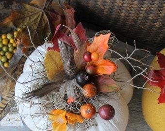 White Linen Pumpkin, Vintage Decor, Home/Fall Decor, Fabric Pumpkin, Thanksgiving, Halloween, white pumpkin, cottage Chic, Shabby Chic