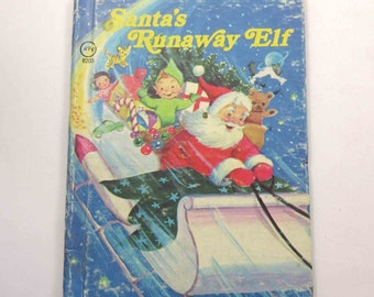 Santa's Runaway Elf Vintage 1970s Rand McNally Children's Book by Jean Lewis Illustrated by Marjorie Cooper