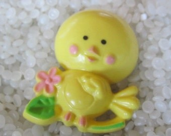 Sweet Vintage avon pin pal  dated 1975 fragrance glace little yellow bird