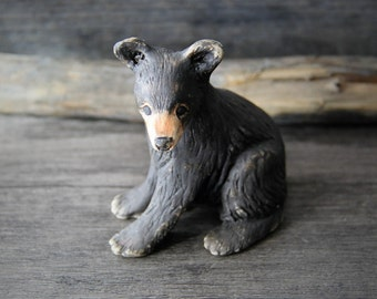 Super cute porcelain ceramic baby bear figurine