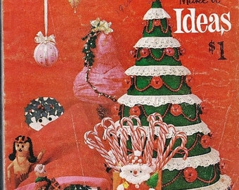 1962 McCalls Christmas Make-it Ideas, Recipes, Gifts, Decor, Christmas Ornaments, Felt Ornaments, Home Crafts