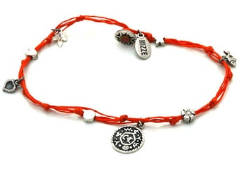 Livelihood Solomon Seal and lucky Charms Anklet in Orange