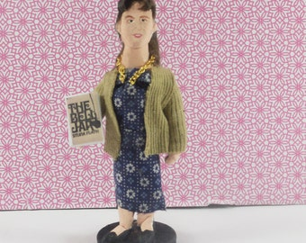 Sylvia Plath Doll Miniature Art Collectible Author and Writer